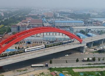 首趟济青高铁检测列车现身淄博北站 年底正式通车