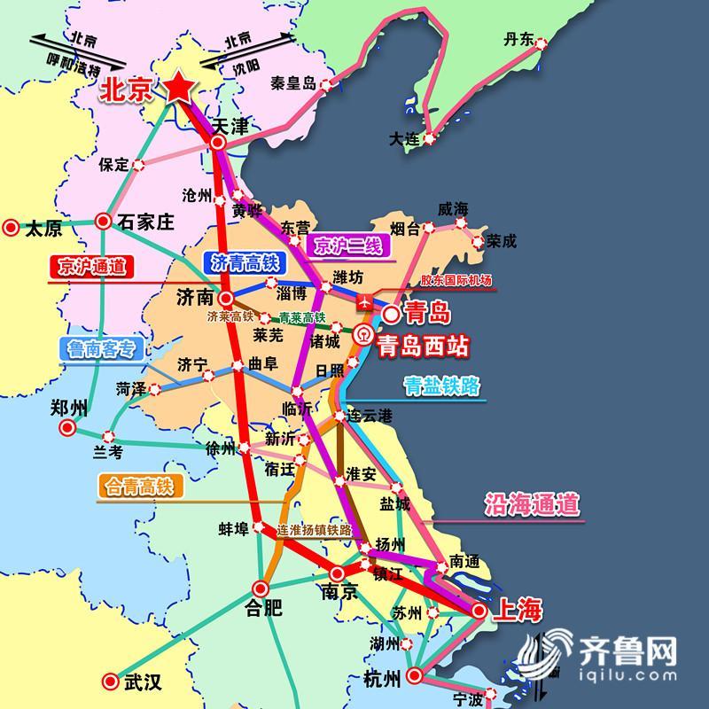 青岛西海岸新区中心位置,与年底建成通车的青盐铁路,济青高铁和正在