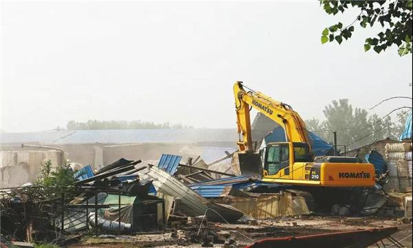 济南市一次性拆除最大单体违建群拆除完毕 将变身郊野公园