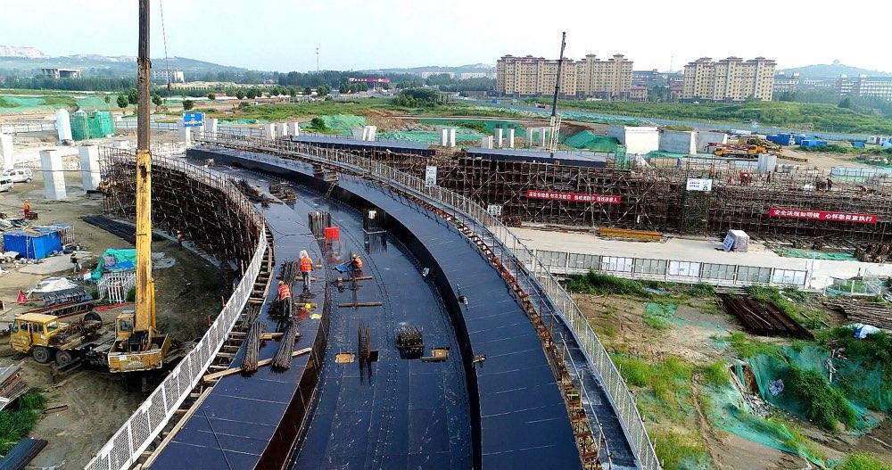 淄博高新区首座互通立交桥桩基施工全部完成