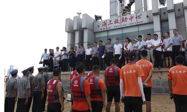 日照:模拟游客溺水救援  加强旅游安全管理