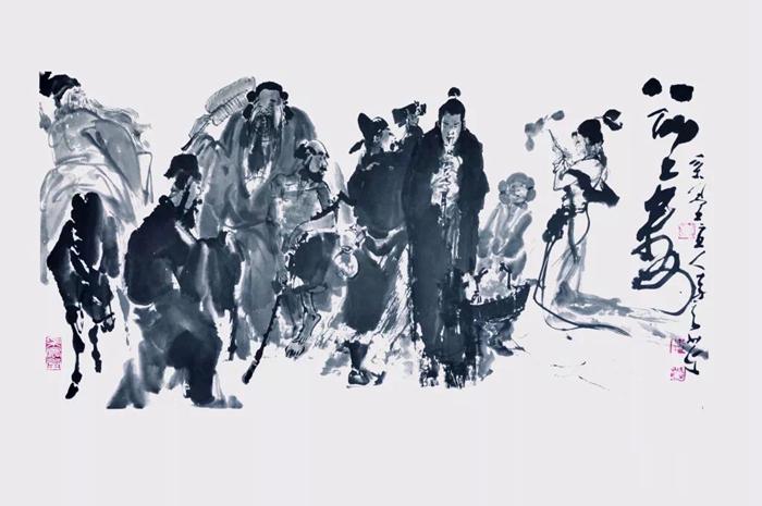 62秒|两岸大家李奇茂、单应桂书画作品交流展在高唐举办