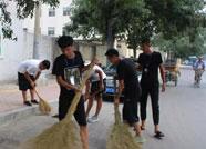 滨城区组织30余名2018年应征入伍青年参加义务劳动