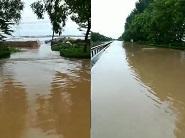 青岛栈桥被淹、济南启动防汛III级应急响应....台风摩羯来袭山东迎强降雨