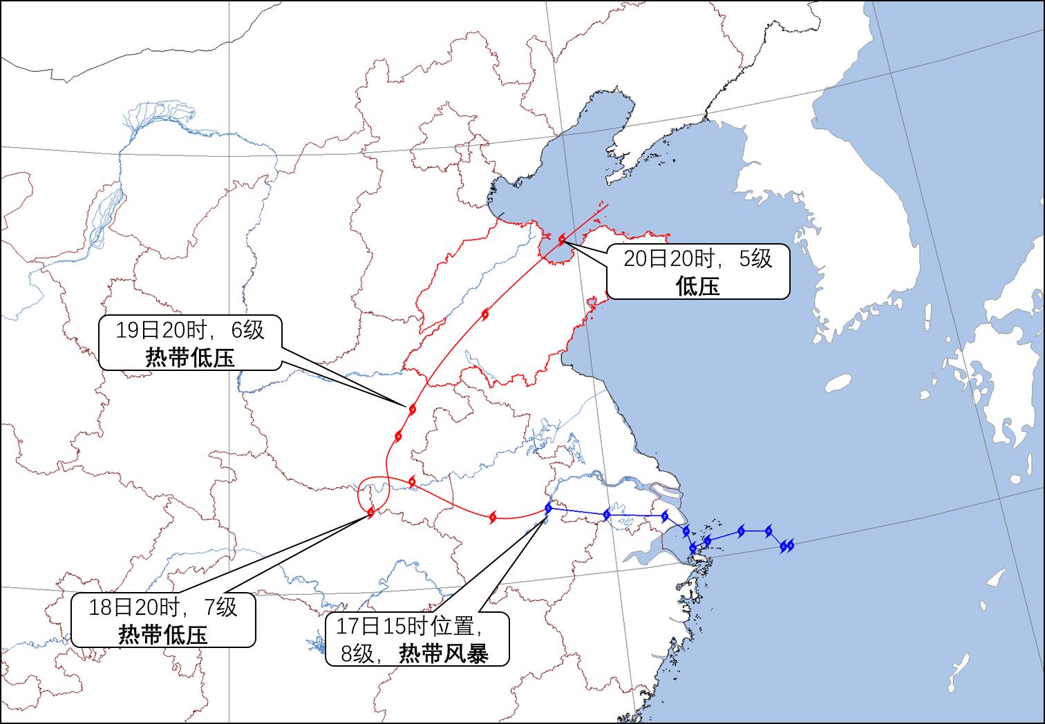 """海丽气象吧丨""""温比亚""""20时正式抵鲁明天入渤海 明晚全省降水结束"""
