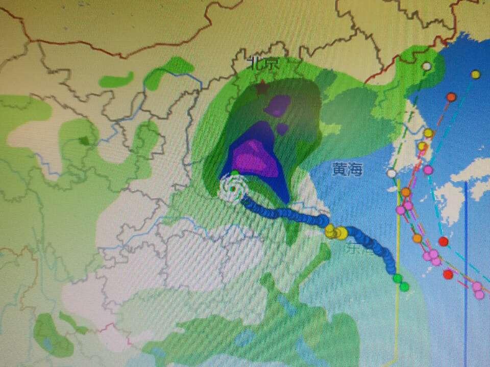 """海丽气象吧丨""""温比亚""""影响菏泽降水减弱 东营济宁等地仍有降雨"""