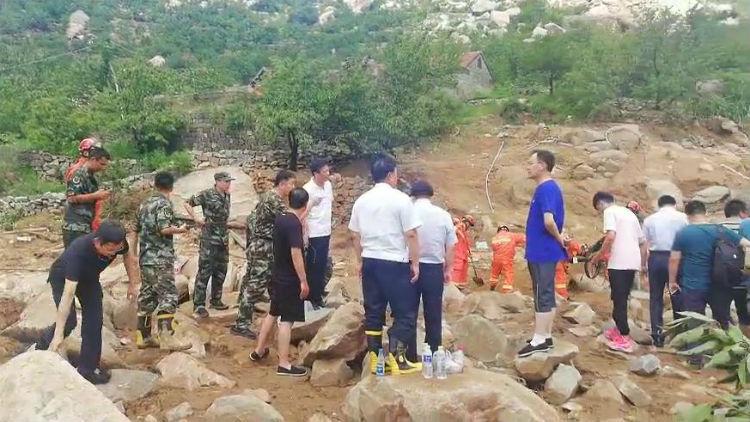63秒丨泰安天宝镇山洪灾害救援紧张进行中!已妥善安置78人转移477人