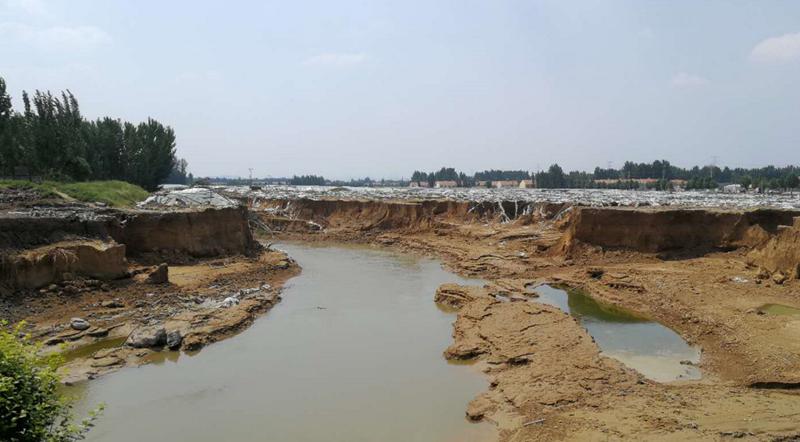 昌乐暴雨致344处桥涵受损 8座县道桥梁同时开工修复