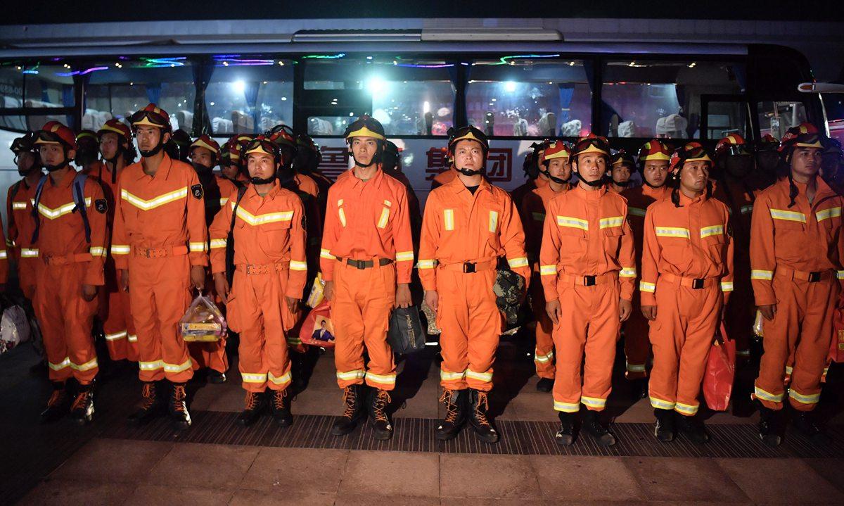 深夜集结!全国3000消防官兵寿光集结赶赴救灾一线