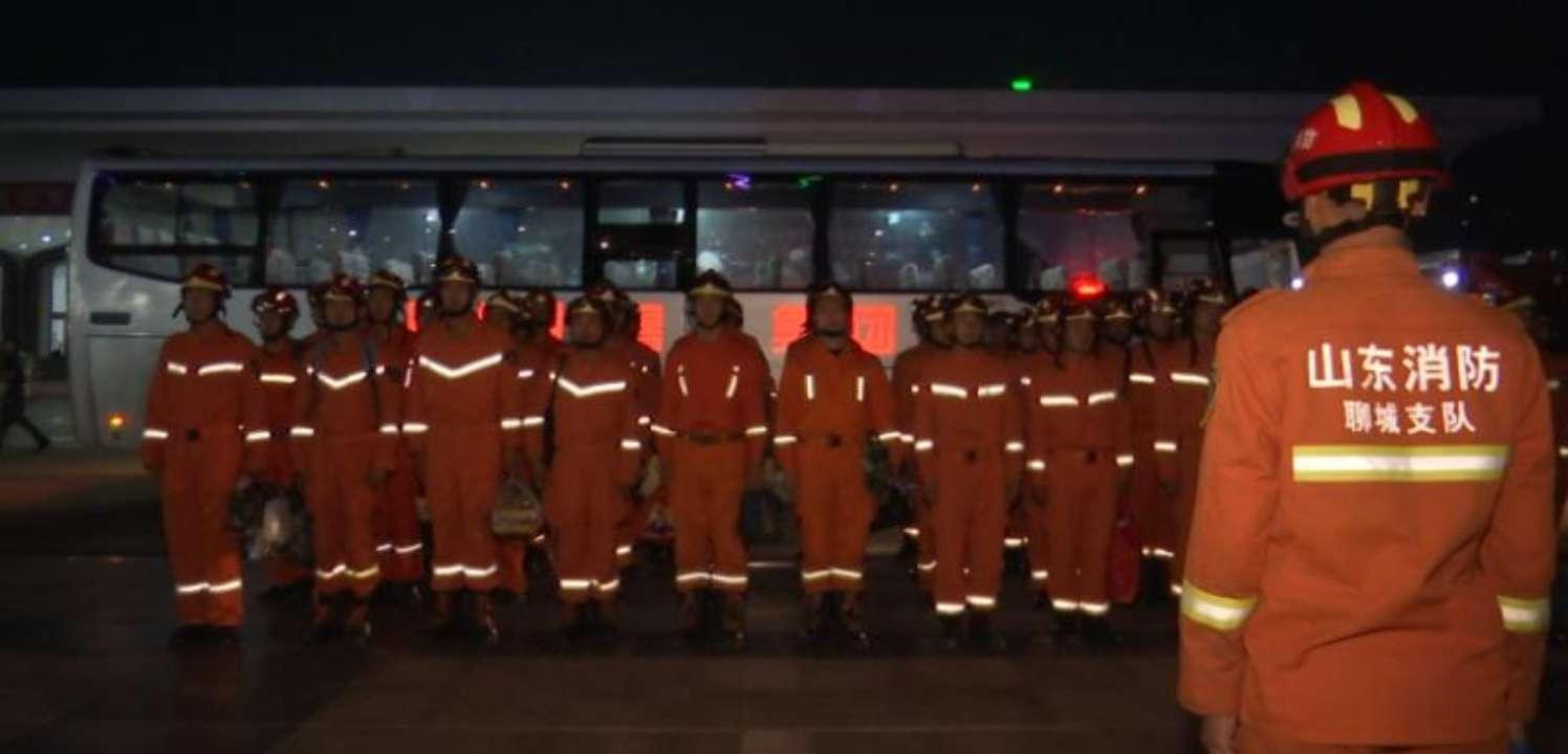 灾情就是命令!多省消防官兵深夜驰援寿光