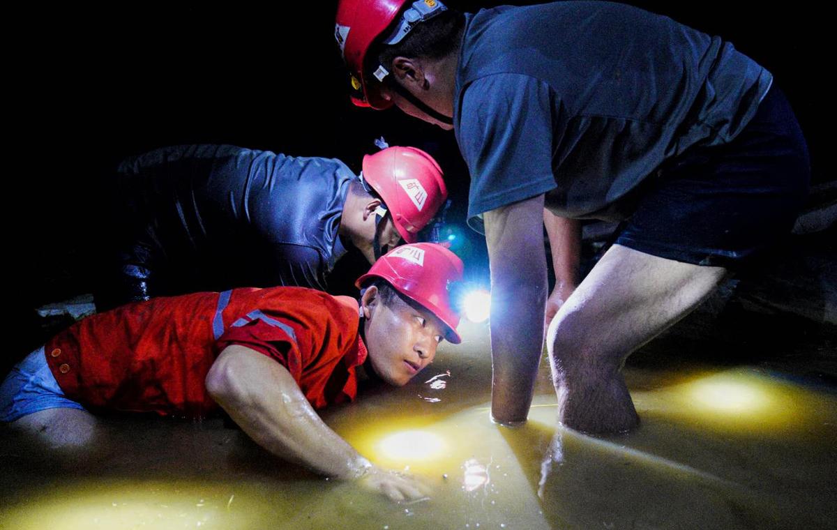 直击抗洪救灾一线丨山东能源救护大队五昼夜奋战抗洪一线