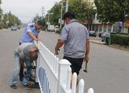 滨州无棣城区这些道路上新装了隔离护栏 过马路别再任性了