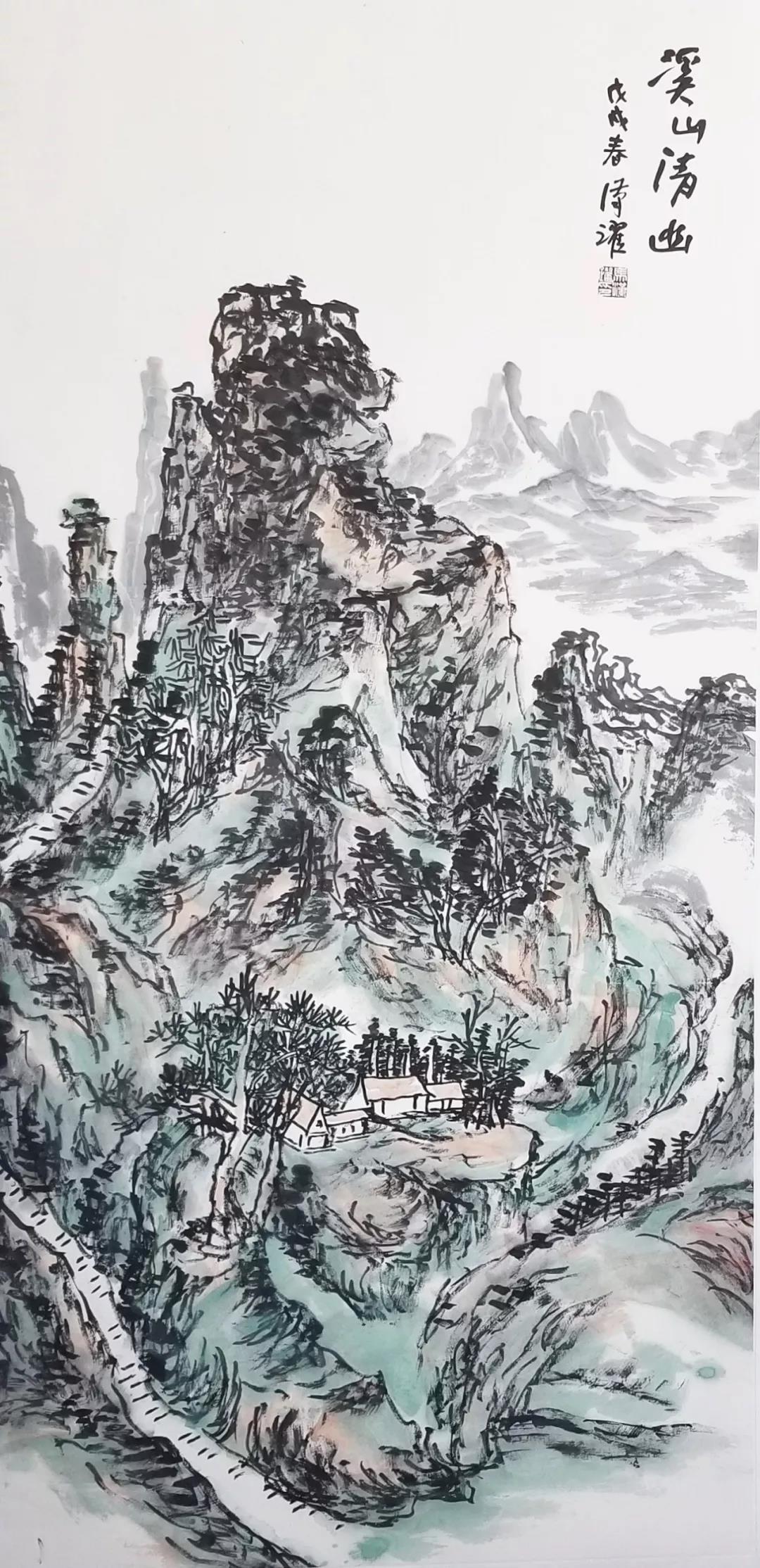 ▲溪山清幽  138×68CM  2018年.jpg