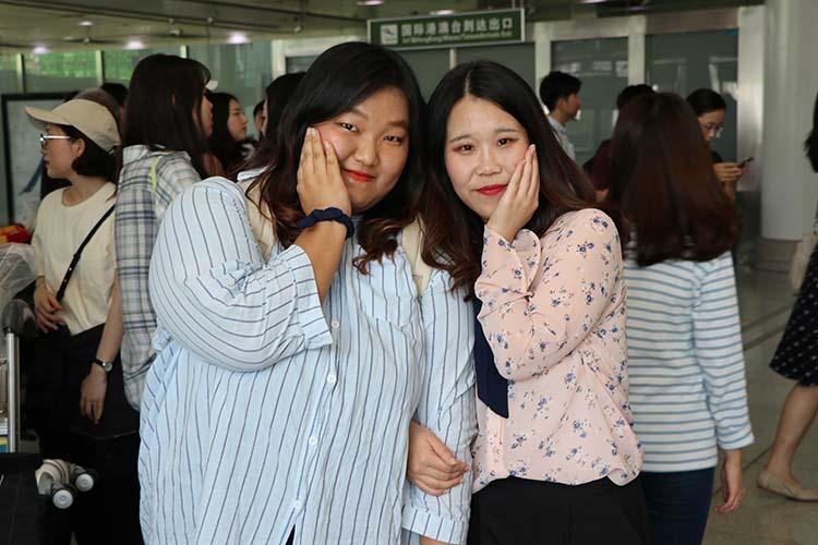想尝中国香菜的味道!77名韩国新生济南报到开启汉语游学之旅