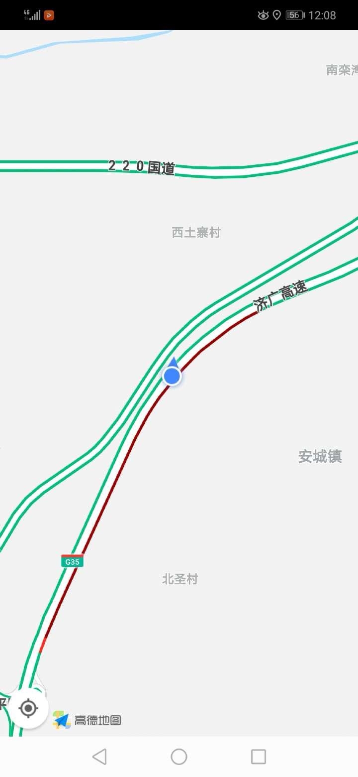 济广高速平阴段一快递车追尾 压车两公里