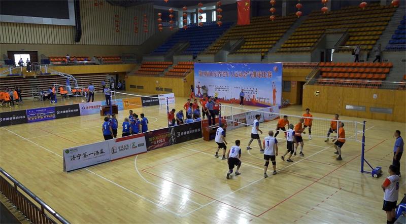 山东省第四届老年人运动会气排球比赛在济宁开赛