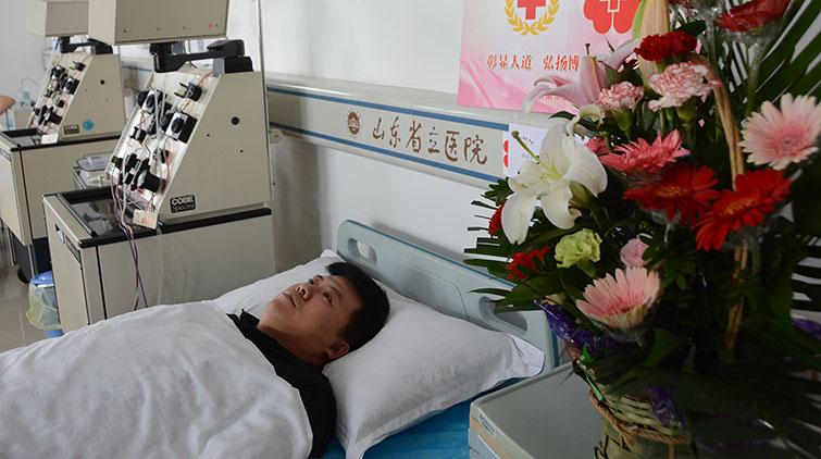 """""""爱之花开放的地方,生命便能欣欣向荣"""" 济南一小伙捐献造血干细胞"""