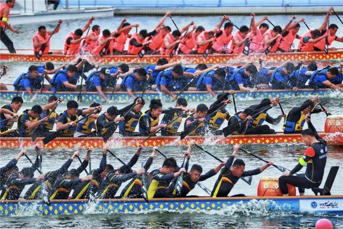 2018中国龙舟公开赛(山东·潍坊站)在滨海举行
