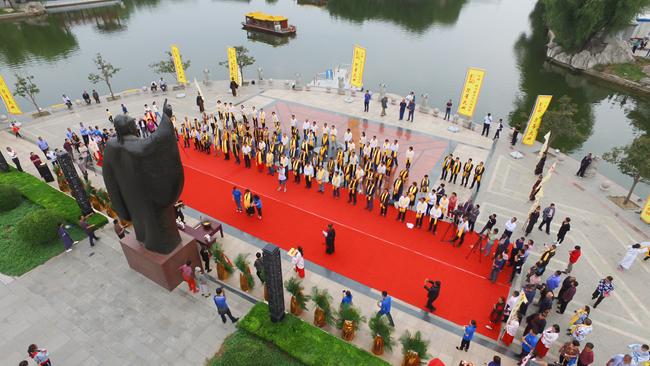 38秒丨传承儒家文化 德州举行2018年祭董大典