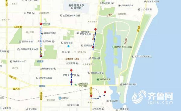 青岛路(济南路——山东路),对青岛路路段东侧辅道进行全封闭施工