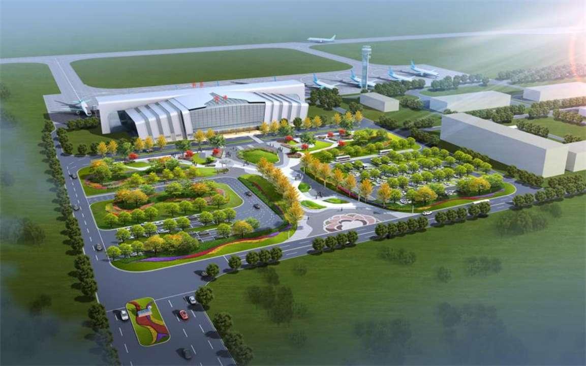 菏泽牡丹机场广场、停车场优化设计完成 最新设计图公布
