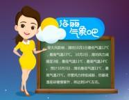 海丽气象吧丨十一假期潍坊风力由强减弱 温差加大谨防感冒