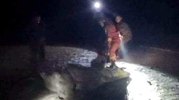 菏泽4头黄牛深陷泥潭 救援现场挖掘机都上了场