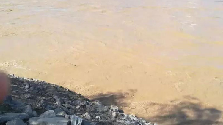 21秒丨黄河水湍急 滨州滨城黄河河务局发布紧急提醒