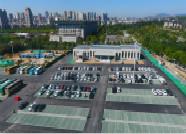 十一黄金周泰安市政府东生态停车场累计接待7466台次车