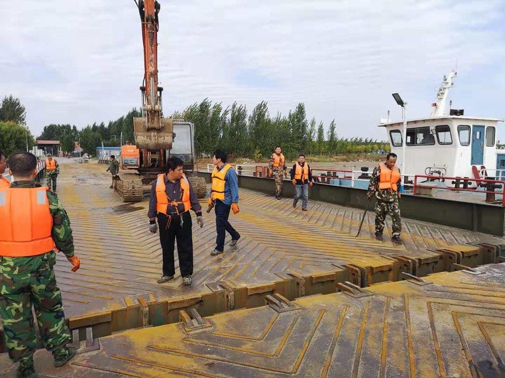 高青两处黄河浮桥对接完毕 已恢复交通