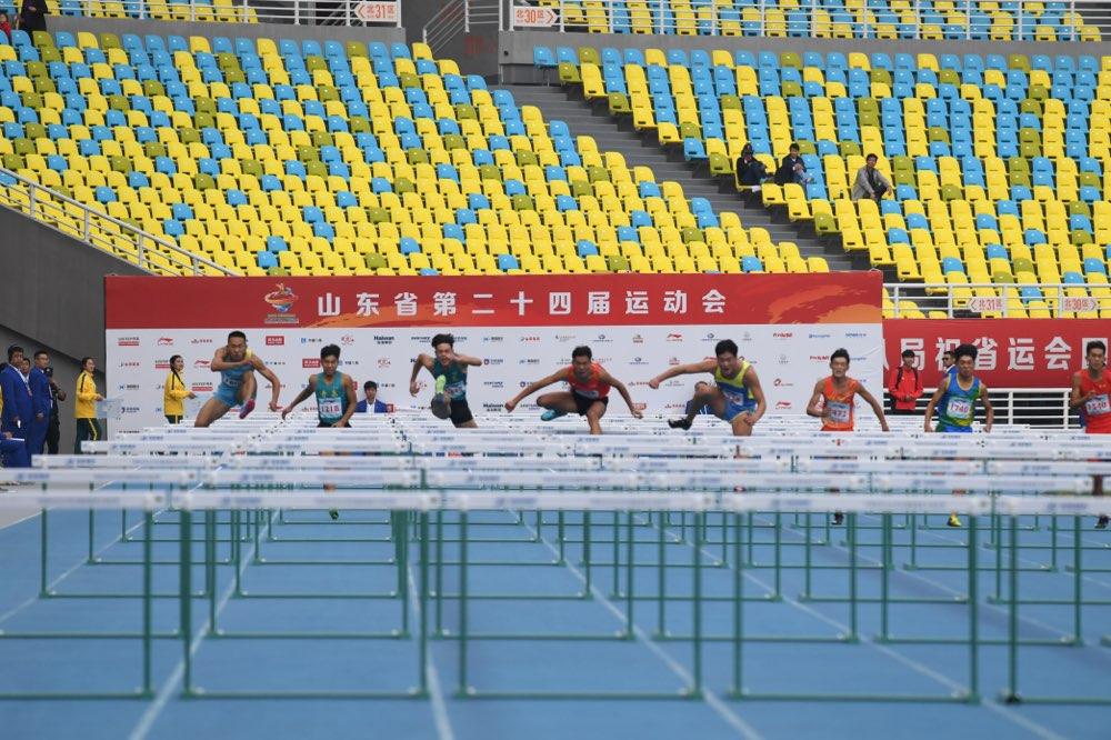 跃动齐鲁?看省运 田径男子乙组110米栏决赛 淄博小伙夺冠