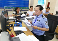 """惠民县公安局出入境管理大队被县政务服务中心评为""""红旗窗口"""""""