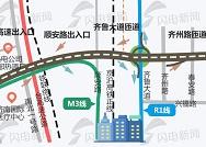 直达西客站、与地铁R1线M3线交叉...济南北园高架西延迎新进展