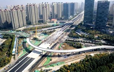 飞吧山东|济南北园高架西延立交桥显雏形 预计2019年元旦通车