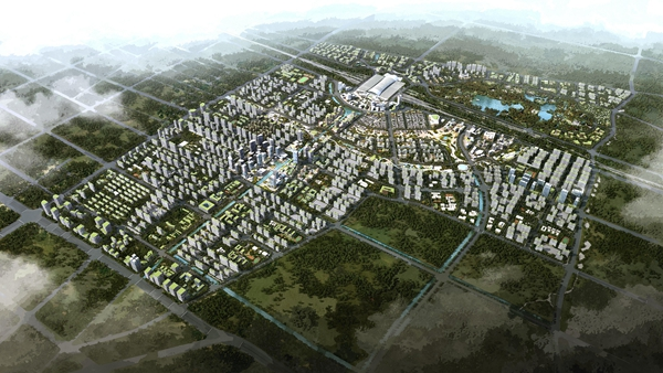 济南新东站核心区打造绿色、现代、和谐的城市次中心