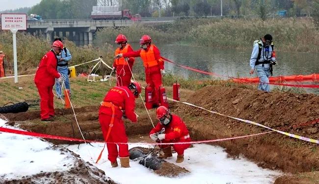 茌平举行2018年临濮输油管道原油泄漏应急演练