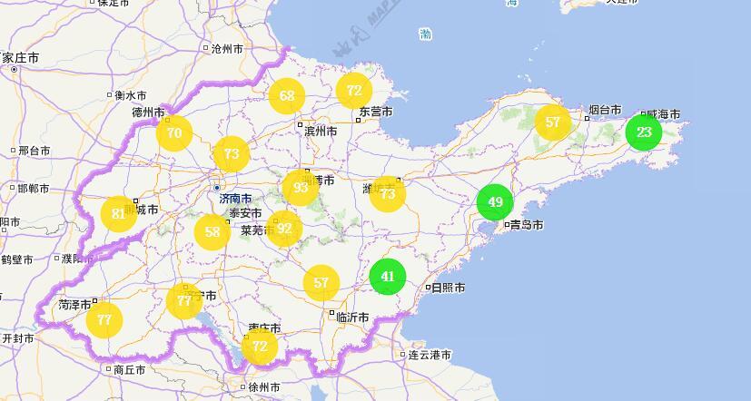海丽气象吧丨山东:17市空气质量优良 半岛局部有阵雨