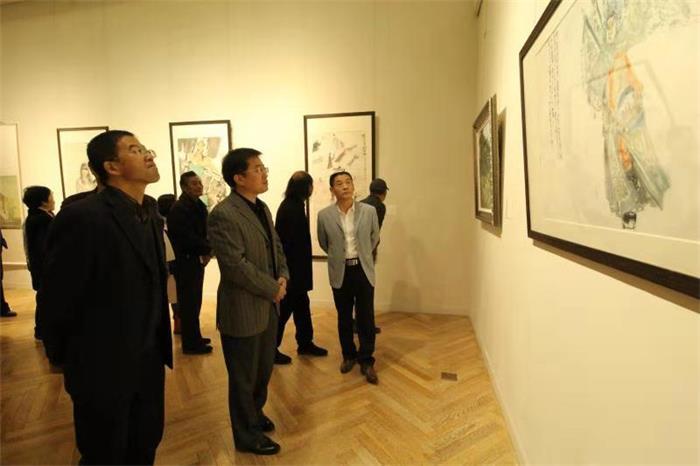 """潍坊市""""新时代·文明行""""书画展开幕 展览持续到11月10日"""