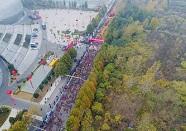 """聚焦2018枣庄国际马拉松赛现场 跑友""""奇装异服""""抢镜"""
