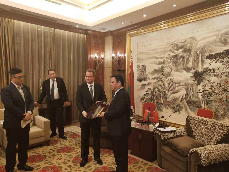 潍坊市委书记、市人大常委会主任刘曙光会见白俄罗斯工业部长