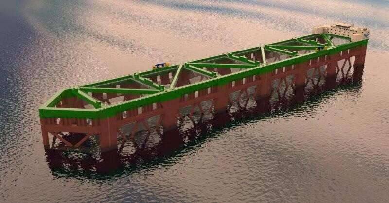 全球最大深海养殖工船烟台开建