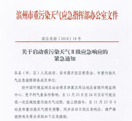 海丽气象吧|滨州发布重污染天气橙色预警 启动Ⅱ级应急响应