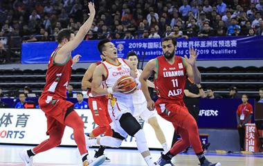 组图:世预赛中国男篮72-52大胜黎巴嫩