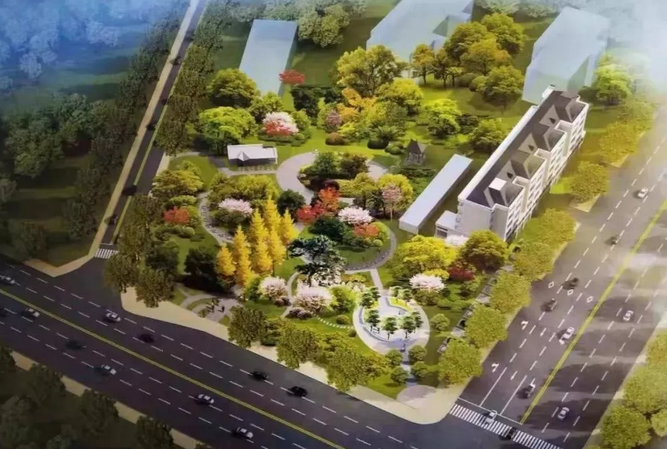 日照石臼街道中心公园开工 占地面积约为1.2公顷