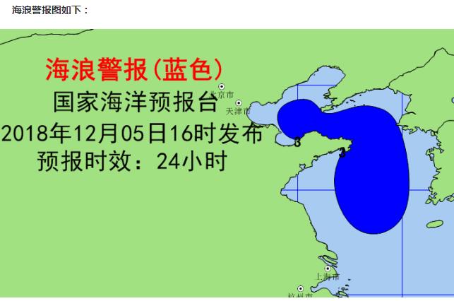 海丽气象吧|海浪蓝色警报 渤海黄海有中浪到大浪