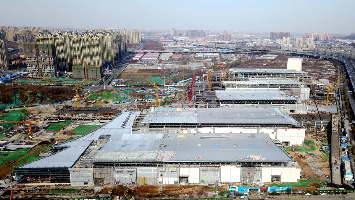 空中巡礼致敬40年|济南最大会展中心明年落成 5个展馆9个展厅5468个展位