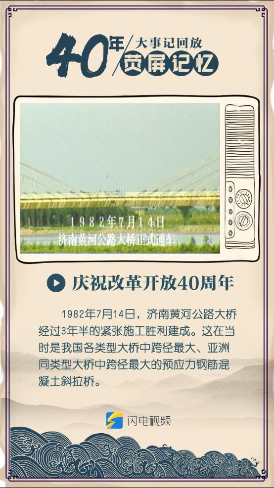 40年·荧屏记忆丨亚洲同类型跨径最大!原来山东当年建的这座桥那么牛