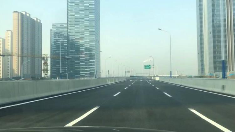 46秒丨工期提前半年!济南北园大街快速路西延试通车