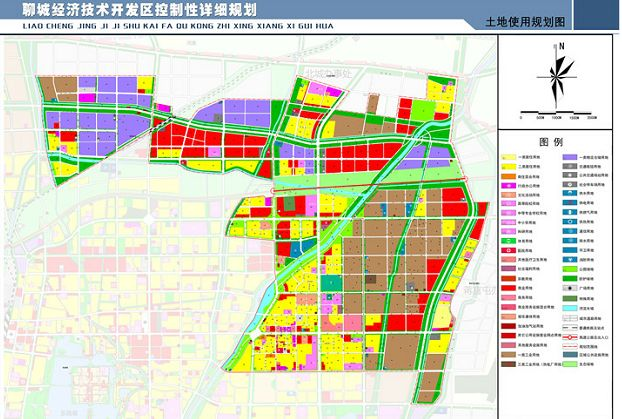 聊城经济技术开发区最新规划出炉 未来中华路东昌路大发展