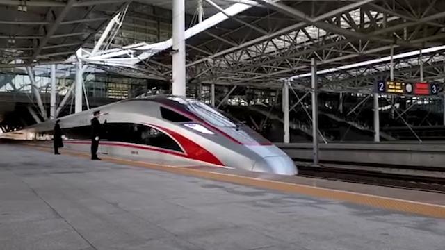 43秒丨第一视角看济青高铁首班车发车瞬间,这才叫速度与激情